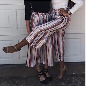 Zara striped culottes